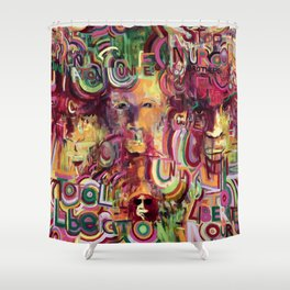 African American Unity portrait painting, A Tribute to Gerald Williams   Shower Curtain