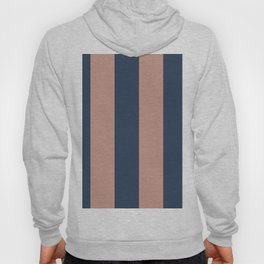 5th Avenue Stripe No. 1 in Smoked Salmon and Midnight Blue Hoody