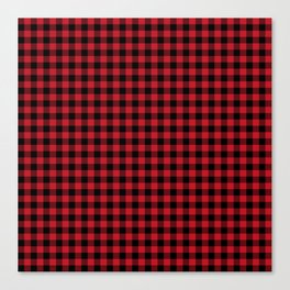 Winter red and black plaid christmas gifts minimal pattern plaids checked Canvas Print