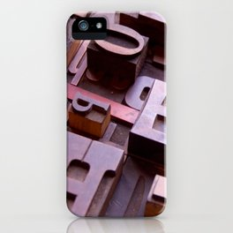 3D Letters - Typography Photography™ iPhone Case
