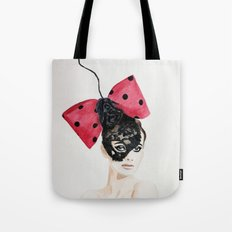 Debry Hat. Black Lace Head Piece. Tote Bag