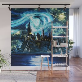 Starry Night Hogwarts Wall Mural