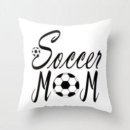 soccer mom shirt,soccer mama shirt,soccer mom gift, Throw Pillow