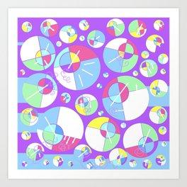 Bubble Purple Art Print