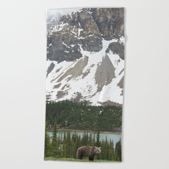 Bear in the north #society6 #buyart Beach Towel