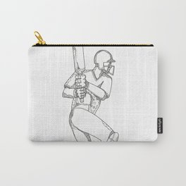 Cricket Batsman Batting Doodle Art Carry-All Pouch