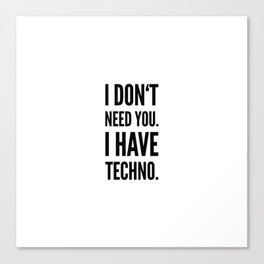 Techno Music Lover | Psytrance Gift Idea Canvas Print
