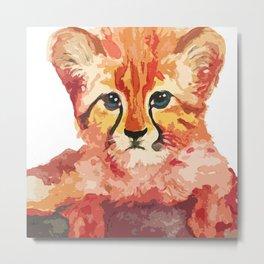 Leo the leopard cub Metal Print