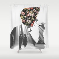 smoking Shower Curtains featuring Smoking by Mrs Araneae
