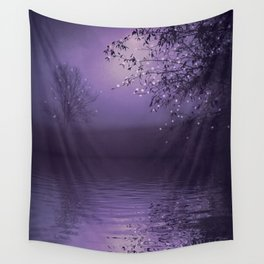 SONG OF THE NIGHTBIRD - LAVENDER Wall Tapestry