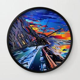 american landscape 8 Wall Clock