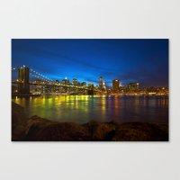 brooklyn bridge Canvas Prints featuring Brooklyn Bridge by Svetlana Sewell