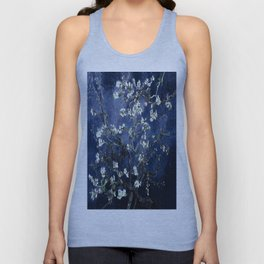 Vincent Van Gogh Almond Blossoms Dark Blue Unisex Tank Top