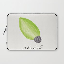 C9 Christmas Bulb in Green - 'All is Bright' Laptop Sleeve