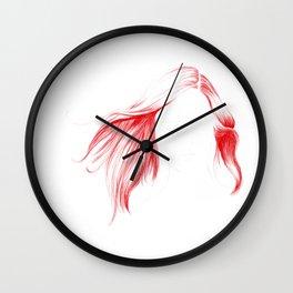Windy Hair Wall Clock
