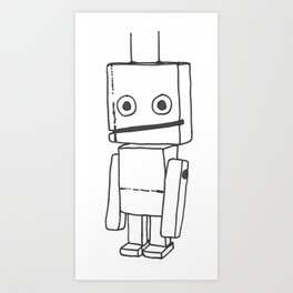 The Nice Robot 1 Art Print