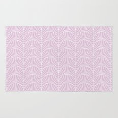 Art Deco Lavender Fields by Friztin Rug