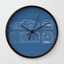 The V8 Vantage Blueprint Wall Clock