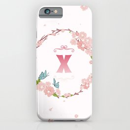 Letter X iPhone Case