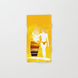 Sunset Surfer Hand & Bath Towel