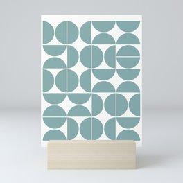 Mid Century Modern Geometric 04 Glass Blue Mini Art Print