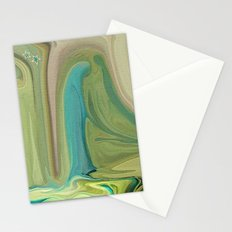 LADY IN BLUE DO I KNOW YOU? Stationery Cards