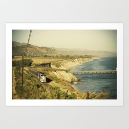 Along the coast Art Print