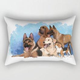 The Working Dogs Rectangular Pillow