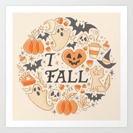 I Love Fall Art Print