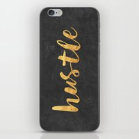 xbox iPhone & iPod Skins featuring Hustle by Text Guy
