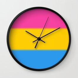 Pansexual Pride Flag Wall Clock