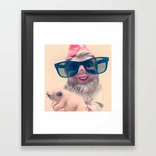 Fashion Gnome Framed Art Print