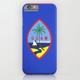 Guam flag emblem iPhone Case