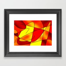 ABSTRACT CURVES #2 (Reds, Oranges & Yellows) Framed Art Print