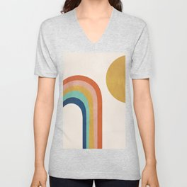 The Sun and a Rainbow Unisex V-Neck