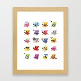 Bookiemoji Party Framed Art Print