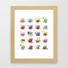 Bookiemoji Party Framed Art Print