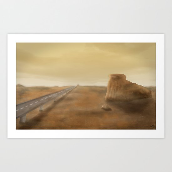 Long Road Ahead Art Print