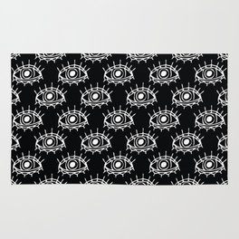 Eye of wisdom pattern-Black & White- Mix & Match with Simplicity of Life Rug