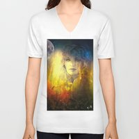 "sandra dieckmann V-neck T-shirts featuring "" Sandra ""  by shiva camille"