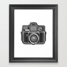 I Still Shoot Film Holga Logo - Black and White Framed Art Print