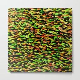 Colorful School of Fish Metal Print