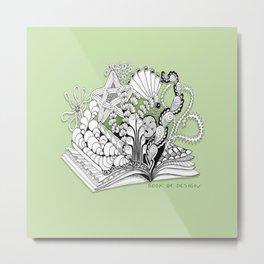 Book of Design - Zentangle Illustration for Children Metal Print