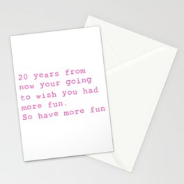 20 Years from now Stationery Cards