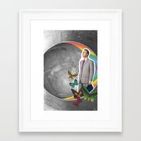 boyfriend Framed Art Prints featuring Future Boyfriend by Dana Fortune