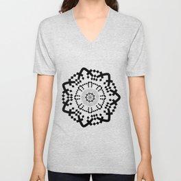 Aztec Mandala [BW VAR] Unisex V-Neck