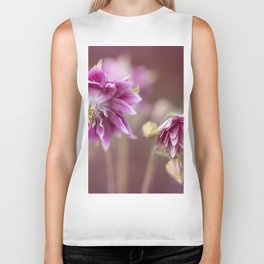 Light pink columbine flowers Biker Tank