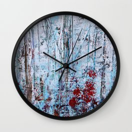 Autumn Smoke - Misty Autumn Forest Scene Wall Clock
