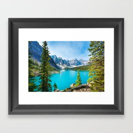 Lake Moraine, Alberta, Canada Framed Art Print