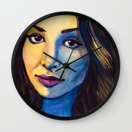 Meaghan Watercolor Wall Clock